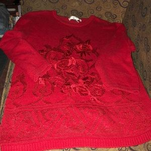 Red Vintage Sweater, Victoria Harbour, L